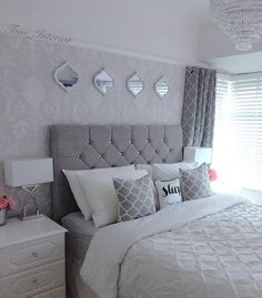 It's been such a sad, long day 😢 I'm ready for bed, And hoping tomorrow will be a positive day! Goodnight my lovelies 😙💤💞 Grey Bedroom Decor, Silver Bedroom, Master Bedroom Design, Home Bedroom, Bedroom Ideas, Jugendschlafzimmer Designs, Design Ideas, Red Rooms, Beautiful Bedrooms