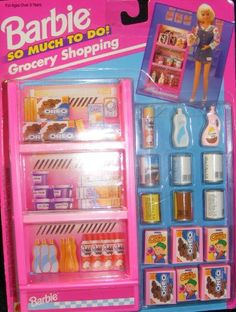 Barbie So Much to Do Grocery Shopping Set by Mattel, Barbie Doll Set, Barbie Sets, Barbie Food, Barbie I, Barbie Dream, Barbie House, Barbie Stuff, Barbie Furniture, Furniture Sets