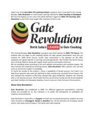 Gate Revolution Provide the Best BSNL JTO Coaching in Chandigarh,Patiala,Gate Coaching in Chandigarh,Pataiala,BSNL JE Coaching in Chandigarh,BSNL TTA Coaching in Chandigarh.Today Call Now:9779003969