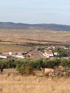 Estación de Valencia de Alcántara vista desde la ermita de los Remedios