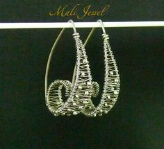 curled ladder earrings