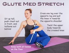You should feel this stretch in the glute (bum) muscles on the right side of your body. Description from tgiffitness.com. I searched for this on bing.com/images