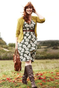 Women's 3/4-sleeve Pattern Gathered Surplice Dress from Lands' End