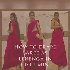 Lehanga Saree, Lehenga Saree Design, Saree Dress, Half Saree Designs, Fancy Blouse Designs, Saree Blouse Designs, Saree Wearing Styles, Saree Styles, Drape Sarees