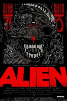 geek-art:#geekartAlien by Tyler Stout on sale today on Mondo;! *http://www.geek-art.net/tyler-stour-alien-movie-poster-by-mondo/