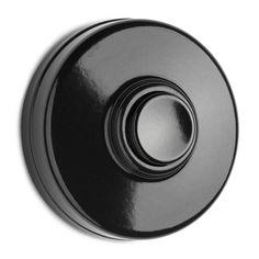 Bakelite doorbell, black-100880
