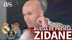 REAL MADRID - REAL SOCIEDAD   Rueda de prensa ZIDANE en DIRECTO   Diario AS Zinedine Zidane, Real Madrid Club, Santiago Bernabeu, Baseball Cards, Daily Journal, Sports