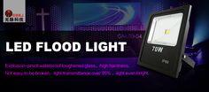 #LED flood light; Imported Bridgelux/Epistar LED chips, double gold wire integration LED, more pure color, low light failure, ensure long lifespan. http://gmkjled.com