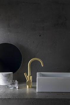 Gallery of Inspiration - Astra Walker Basin Mixer, Sink, Hardware, Mirror, Gallery, St Kilda, Bathrooms, Brass, Urban