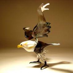 Glass Bald Headed Eagle $24.95 http://www.glasslilies.com/120-glass-bald-headed-eagle.html #Glass #Bald #Headed #Eagle #Birds #BaldHeaded #Gifts #GlassArt #Gifts #BlownGlass