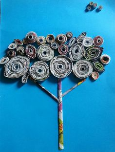 Made it by magazine paper coils.. :) thanks to all people who pinned craft with paper coils.