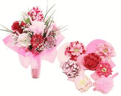 Pretty In Pink Flower Hat Bouquet $195.95