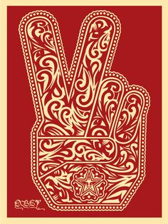 Shepard Fairey, 'Peace Fingers 2', 2016, Street Art for ACLU: Benefit Auction 2017 | Artsy