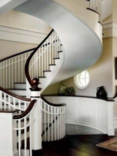 Awesome spiral staircase.