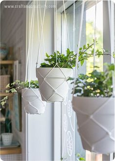 You can DIY your own Macrame planter holder.