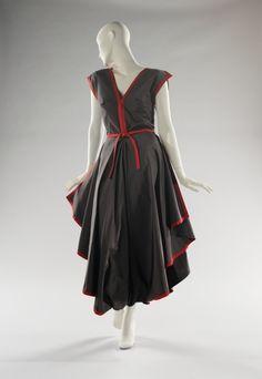 Madame Grès dress ca. 1983 via The Costume Institute of the Metropolitan Museum of Art