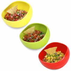Salsabol - Perfect Salsa Dipping Bowls - 3 Pack on Fab.
