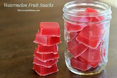 Homemade fruit snacks are a healthy snack to make for your family. These gut-healing recipes are delicious and full of nutrients and superfoods! Watermelon Gummies Recipe, Watermelon Fruit, Beef Gelatin, Gelatin Recipes, Recipes Using Fruit, Snack Recipes, Paleo Recipes, Healthy Snacks To Make, Healthy Treats