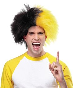 OFF - Sports Team Event Wig Navy Blue Gold : Adult sport wigs in multiple colors. Simply add makeup or airbrush your face with matching colors to support your favorite team. One size fits most adults. Navy Blue pantone 2758 and Gold Burgundy And Gold, Orange And Purple, Purple Gold, Blue And Silver, Green And Gold, Gold Gold, Teal Green, Purple Wig, Halloween News