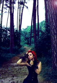 Model: Milena Corleone https://www.facebook.com/milena.corleone.studio Photographer: Meeide Photography  #model #redhead #milenacorleone #red #hair #fairytale #forest #fantasy #fairy #corset #look #modelling #photography #photographer #photoshoot #trees #inspiration #idea #colours #view #song #birds