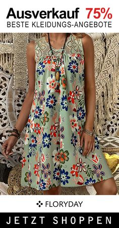 Floryday Dresses, Dress Outfits, Cool Outfits, Casual Outfits, Fashion Dresses, Dresses For Work, Floral Fashion, Dress Sewing Patterns, Casual Summer Dresses