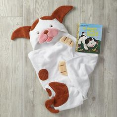 Poky Little Puppy Hooded Towel Bath Set  | The Land of Nod