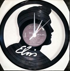 Elvis Vinyl Album Clock