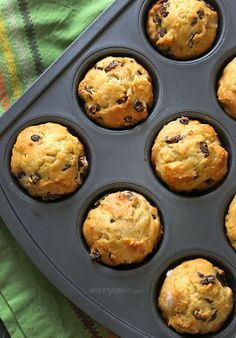 These Whole Wheat Irish Soda Bread Muffins are delish and perfect for portion control.
