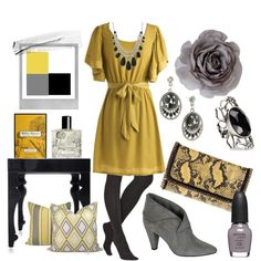 wish I had something to wear these cute outfits too! love the yellow and gray!