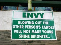 Green Humor: don't be the green eyed monster..