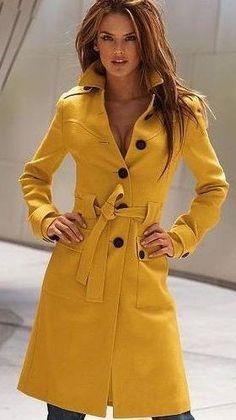 Желтое пальто виктория сикрет