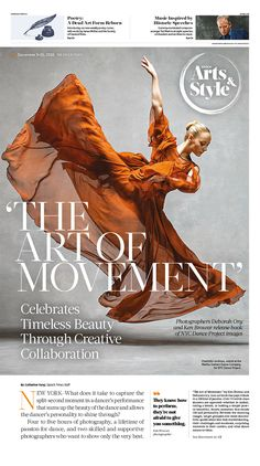 The Art of Movement|Epoch Times #Arts #newspaper #editorialdesign