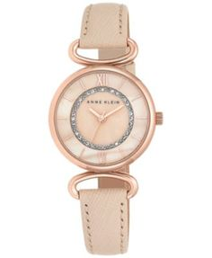 Anne Klein Watches for Women - Macy's Elegant Watches, Casual Watches, Anne Klein Watch, Rose Gold Watches, Leather Jewelry, Bracelet Watch, Bangle Bracelet, Jewelry Watches, Blush