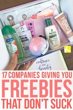 "17 Companies Giving You Freebies That Don't Suck - It's my favorite ""F"" word — freebie! Here are some brands and companies that give freebies that are worth definitely worth your time! stuff 17 Companies Giving You Freebies That Don't Suck Free Baby Samples, Free Samples By Mail, Free Makeup Samples, Free Stuff By Mail, Get Free Stuff, Free Baby Stuff, Coupons For Free Stuff, Makeup Sample Box, Free Stuff Canada"