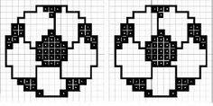 Image result for esportes em ponto cruz Cross Stitch Art, Cross Stitching, Cross Stitch Patterns, Stitching Patterns, Bracelet Patterns, Plastic Canvas, Perler Beads, Diy Room Decor, Pixel Art