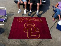Southern Cal USC Trojans 5X6ft Indoor/Outdoor Tailgate Area Rug/Mat/Carpet