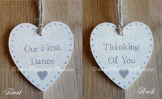 Wedding First Dance Song Hanging Heart by persnicketyrose on Etsy, £4.50