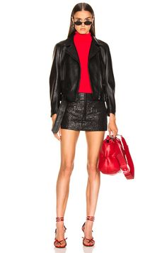 Shop for Acne Studios Mock Jacket in All Black at FWRD. Free 2 day shipping and returns. Expensive Clothes, Just Style, Model Look, Dope Outfits, Fall Looks, Beautiful Outfits, Beautiful Clothes, Fashion Lookbook, Couture