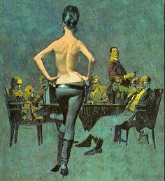 ROBERT McGINNIS - Saber Tooth (Modesty Blaise) by Peter O'Donnell - 1966 Fawcett Books