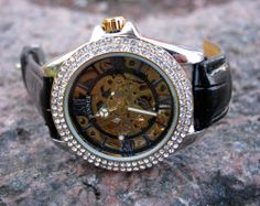 Damklocka Winner - Glitter #winner #skeleton #armbandsur #klocka #klockor #herrklocka #herrklockor #runns #watch #watches
