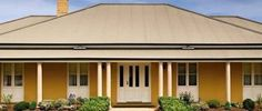 Image result for colorbond paperbark roof Roof Colors, Colours, Colorbond Roof, Orange House, Garage Doors, Cottage, Exterior, Steel, Create