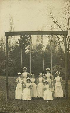 Nurses. Or creepy cult members that look strangely alike.