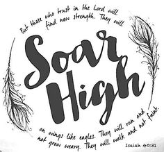Isaiah 40:31 Trust in the Lord your God