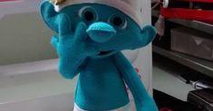 Boneco Smurfs em Feltro com molde