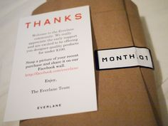 Everlane - new customer packaging