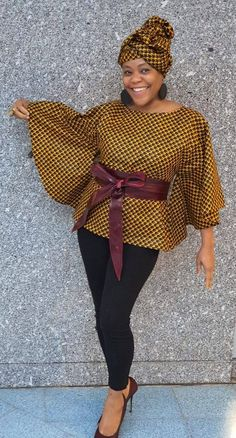 African print top/ bat wing top/ kimono/ big sleeve shirt/ butterfly top/ ankara top by GITAS PORTAL - Women's style: Patterns of sustainability African Blouses, African Tops, African Wear, African Attire, Latest African Fashion Dresses, African Print Fashion, Africa Fashion, African Print Dress Designs, African Print Dresses