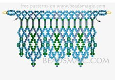 Free pattern for necklace Greenland | Beads Magic