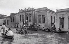 Uma foto da enchente de 1929 na Rua Iguatemi no Bairro do Itaim Bibi em São Paulo/SP.