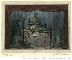 [La flûte enchantée : esquisse de décor de l'acte IV, tableau 11863 / Philippe Chaperon] - 1