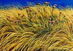 franco azzinari - Google Search Lavender Fields, Wild Flowers, Poppies, Grass, Italy, Google Search, Plants, Art, Art Background